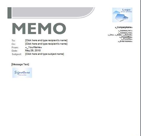 Memo Template Business Professional Business Memo Template With Company Logo Helloalive