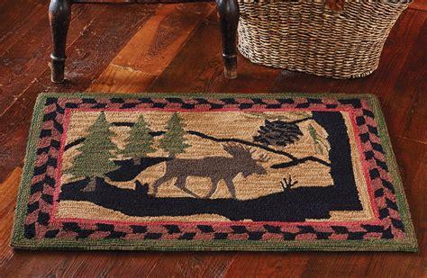 moose rugs hooked moose rug