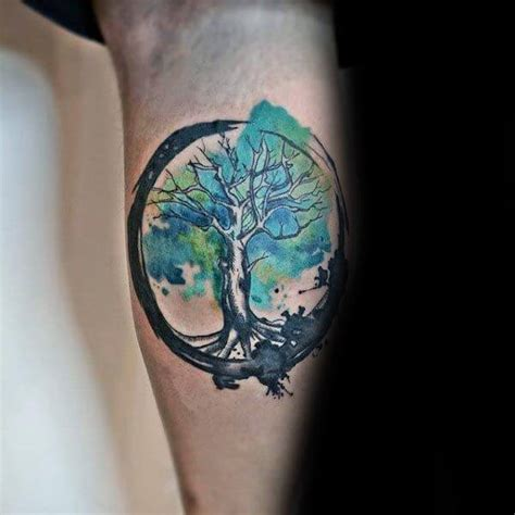 watercolor tattoos tree of life the 112 best watercolor tattoos for improb