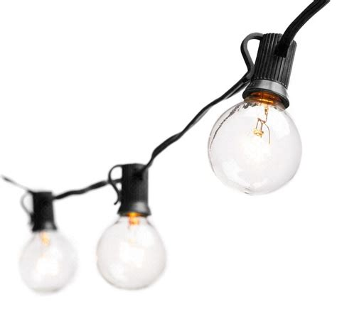 string of light bulbs outdoor ac110v tungsten l string lights with g40 bulbs 25ft