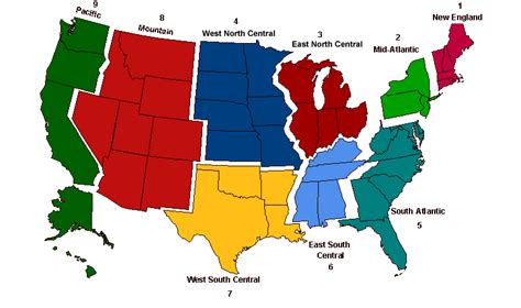 map of us states by region united states 8 regions map