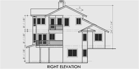 view house plans sloping lot house plans multi level