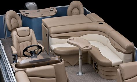 luxury pontoon boat seats sx22 cruise fishing pontoon boats by bennington