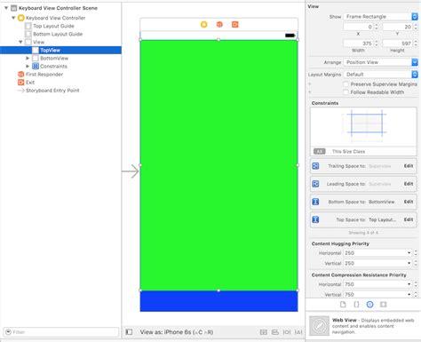 xcode custom layout swift3 custom keyboard storyboard with xcode 8 beta