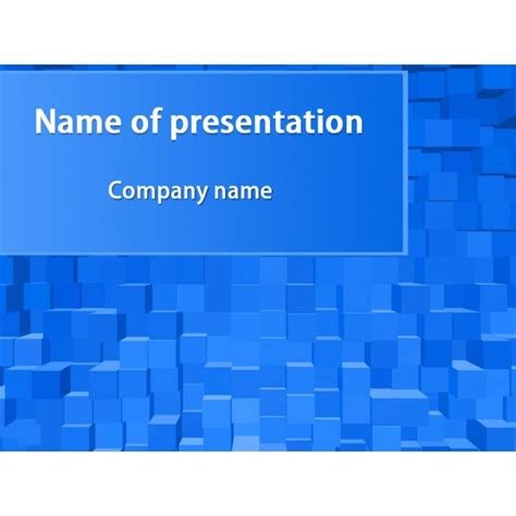 Blue Square Powerpoint Template Background For Themes For Presentation Free