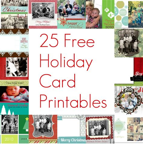 printable christmas cards add a photos 25 free christmas card printables the holiday helper