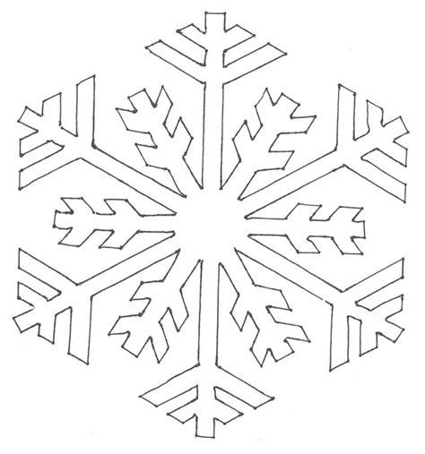 easy snowflake coloring pages coloring pages