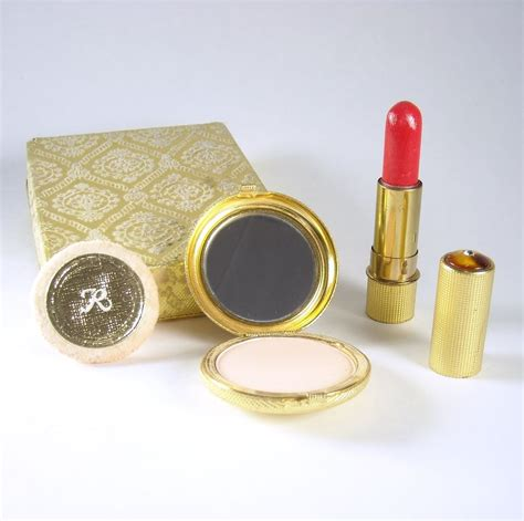 Lipstik Revlon Mini vintage revlon cleef arpels compact and lipstick sold on ruby