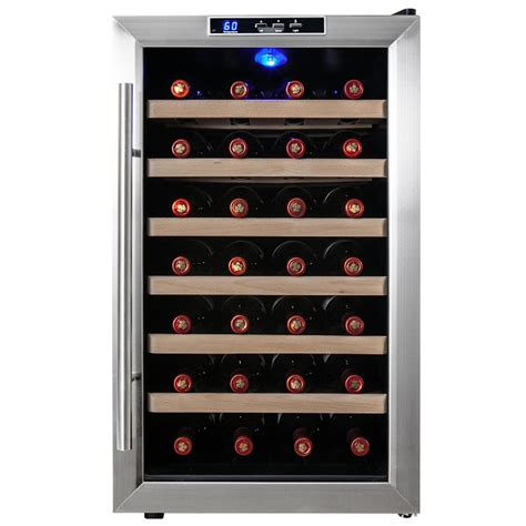 Wine Rack Kitchen Cabinet akdy 28 bottle single zone thermoelectric wine cooler in