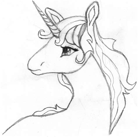 Sketches To Color by Unicorn Easy Drawing At Getdrawings Free For