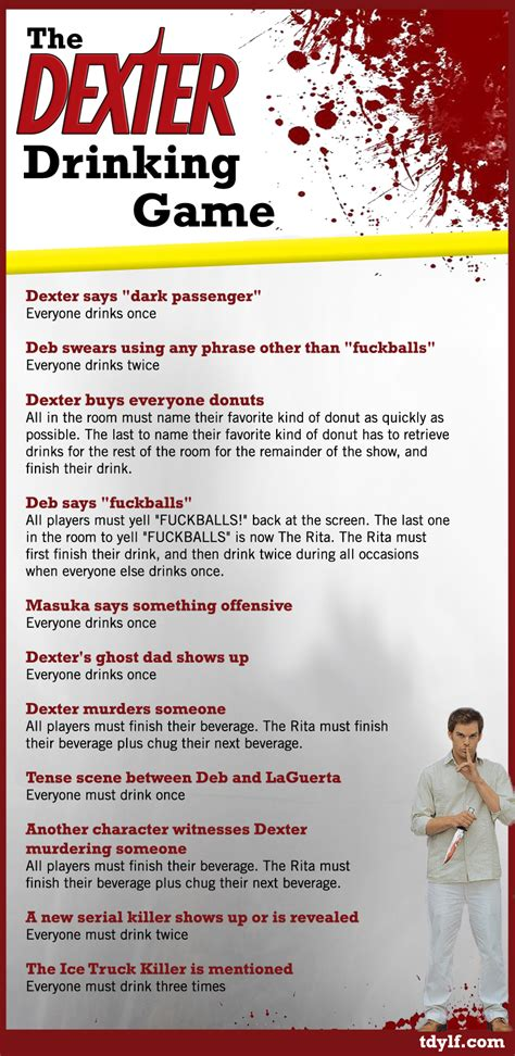 Drinking Game Memes - the dexter drinking game
