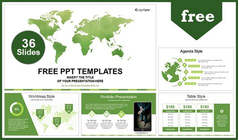 Global Business Map Powerpoint Template Powerpoint Templates Free Business Presentations