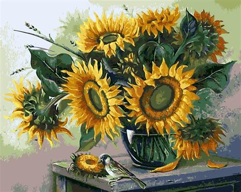 How To Draw Sunflowers In A Vase by Compare Prices On Sunflower Drawings Shopping Buy