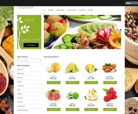 29 Grocery Store Website Themes Templates Free Premium Templates Ecommerce Grocery Website Templates