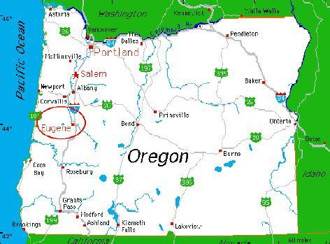 map of oregon city area eugene oregon area map