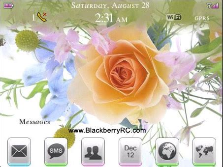 theme rose blackberry 9000 themes blackberry themes free download blackberry