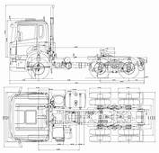Scania CA 6x4 Heavy Truck Blueprints Free  Outlines