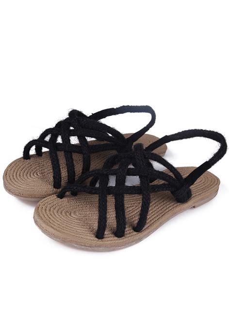hemp rope sandals hemp rope cross sandals bellelily