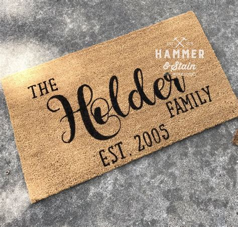 Personalized Doormats by Personalized Doormat Hammer Stain