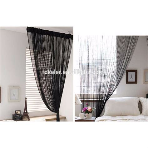 cheap string curtains new christmas wholesale 3m x 3m black tassel drape panel