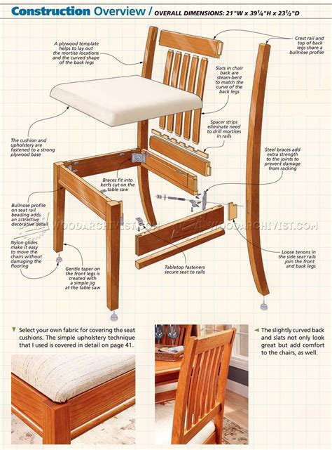 wooden dining chair plans image mag