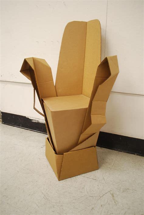 cardboard chair project on risd portfolios