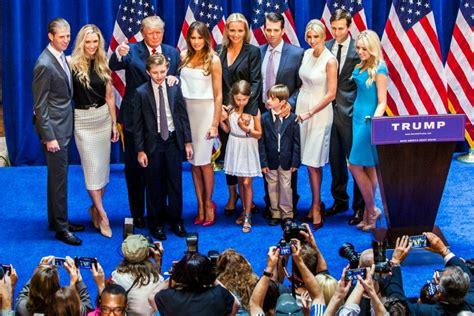 trump family photos donald trump family guide ivanka melania tiffany and more