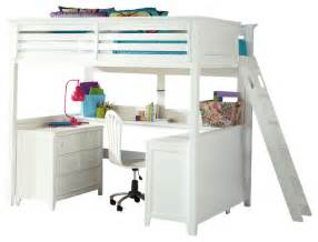 Loft Beds Or Bad Lea Willow Run Loft Bed With Desk In Linen White