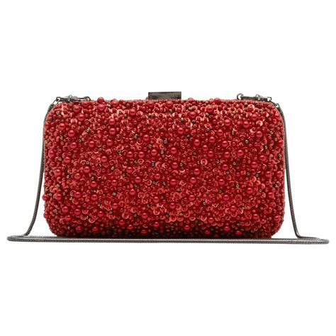 beaded box clutch bag reiss miro beaded box clutch bag in lyst
