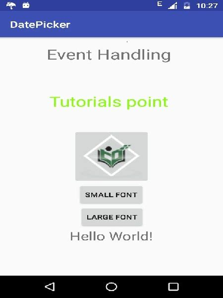 tutorial android handler android event handling