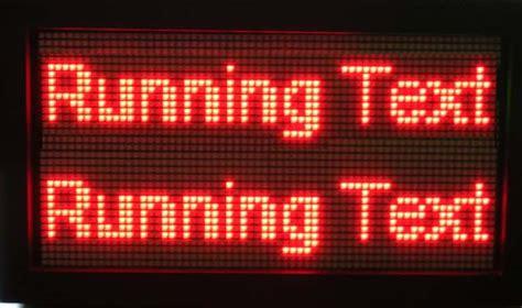 Led Running Text Outdoor running text a0 13r semi outdoor jual running text