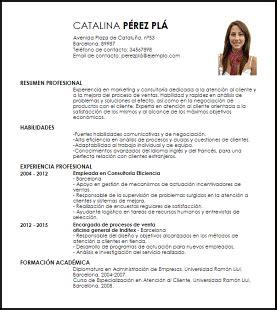Ejemplo Curriculum Analista Financiero Modelo Curriculum Vitae Asesor En Atenci 243 N Al Cliente Livecareer