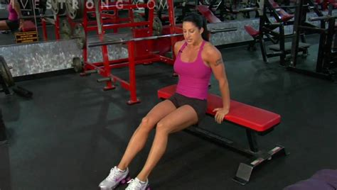 how to do bench dips how to do triceps bench dips youtube