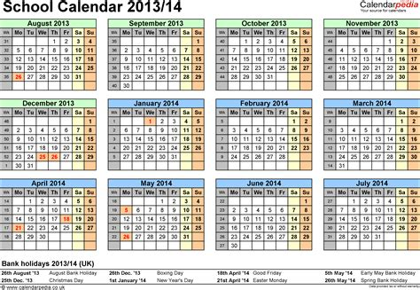 school year calendar template school calendars 2013 2014 as free printable excel templates