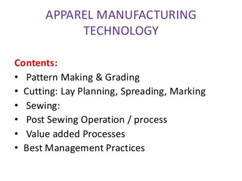 pattern making and grading fin technology in apparel manufacturing