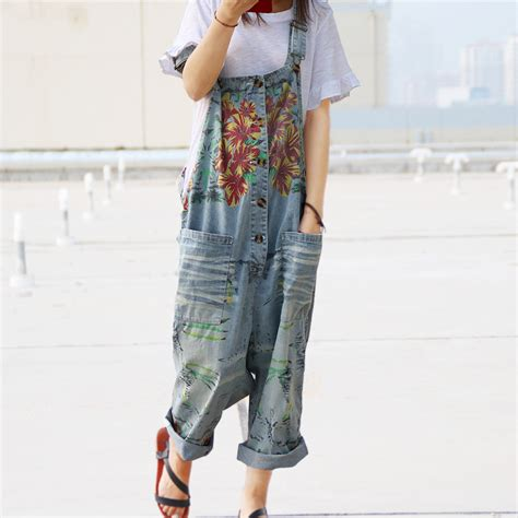 Line Skirt Overall Terusan Jumpsuit W315 ᗗ 2016 summer ᗔ leisure leisure plus size denim jumpsuits overalls overalls