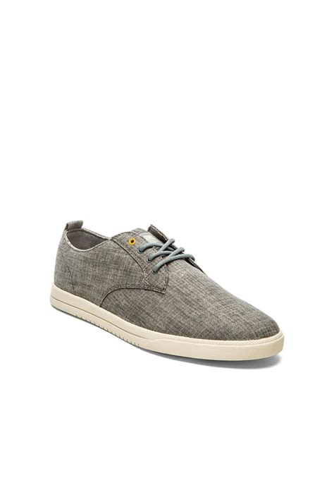Gray Canvas Fino Shoes Ba 125 lyst clae ellington sneakers in gray for