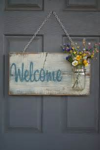 jar welcome sign distressed welcome sign