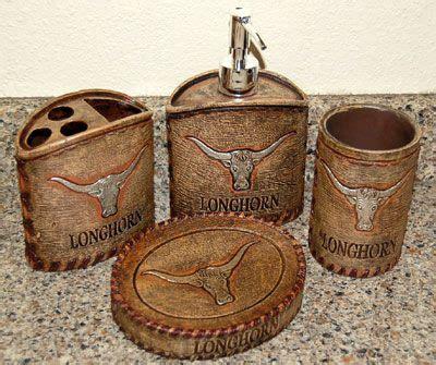 Texas Longhorn Bathroom Vanity Set Western Redo Home Longhorn Bathroom Accessories