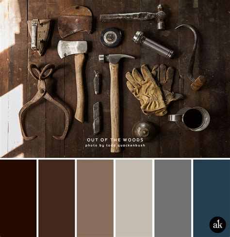 colors that go with brown a rust inspired color palette silver metal rust and steel