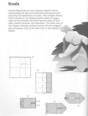 How To Make A Origami Koala - papiroflexia para tod s koala