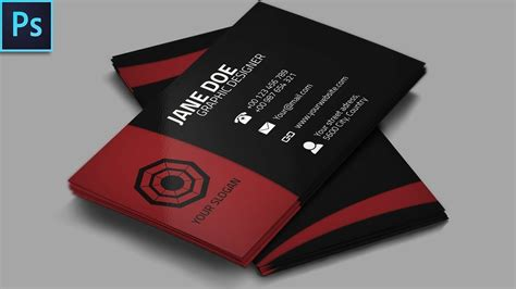 templates for business cards photoshop cool creative business card psd photoshop tutorial youtube