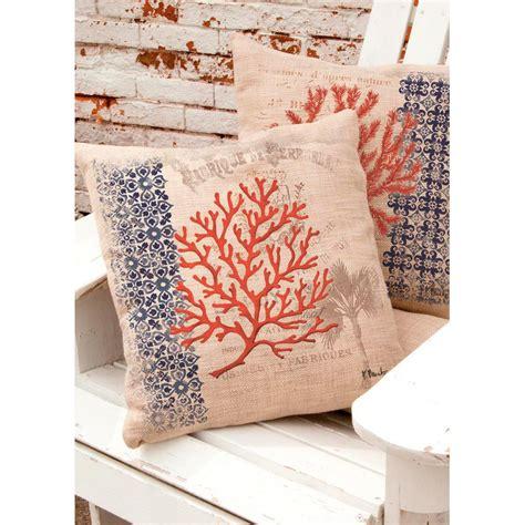 Seashore Decorative Pillows by Coral Coastal Palm Tree Pillow D 233 Cor Shop