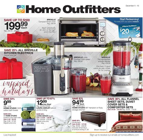 home outfitters flyer december 4 to 10