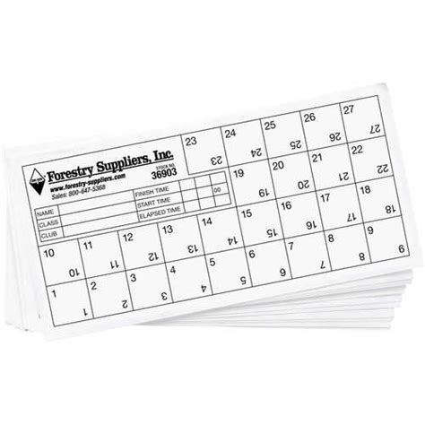 orienteering cards pack of 25 forestry