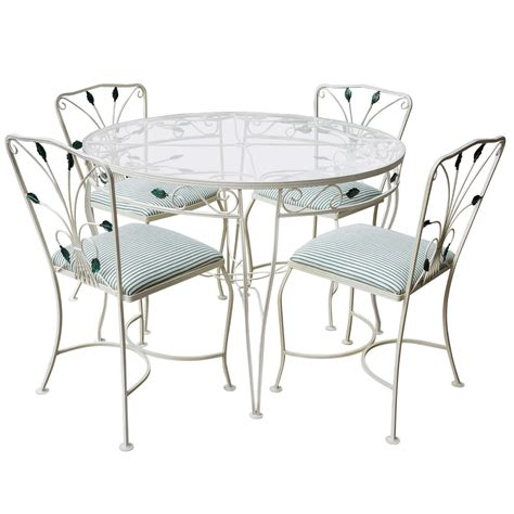 a vintage woodard iron dining set for sale at 1stdibs