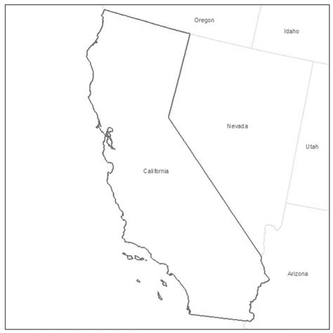 California County Map Outline With Cities by Printable California Map California Maps Map Of California California State County And