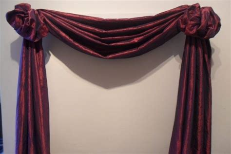 how to hang a swag scarf curtain the third great way to hang your scarf swag curtains