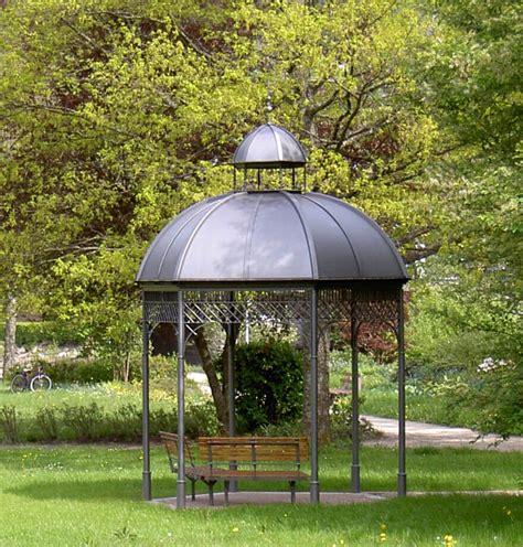 metall pavillon rund gartenpavillon aus metall mit dach aktuelletrends