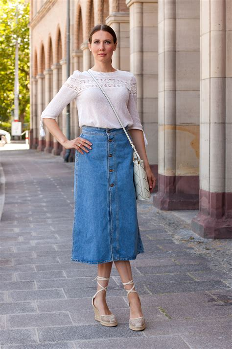 Denim Maxi Style zara denim maxi skirt mood for style fashion from